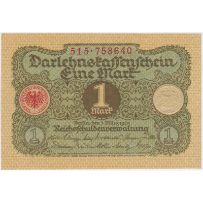 Germany - banknote 1 Mark 1920 (UNC)