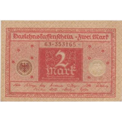 Deutschland - 2 Mark-Banknote 1920