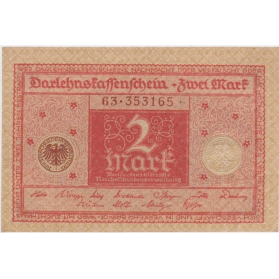 Germany - 2 Mark banknote 1920