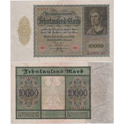 Germany - banknote 10 000 Mark 1922