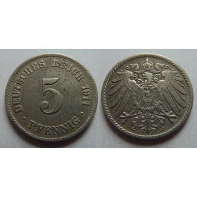 5 Pfennig 1911 J