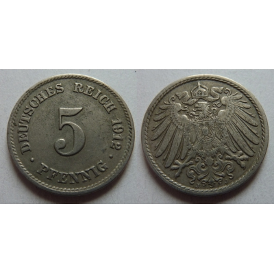 5 Pfennig 1912 J