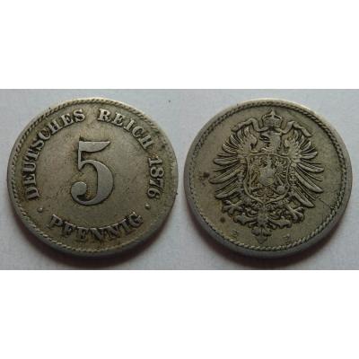5 Pfennig 1876 E
