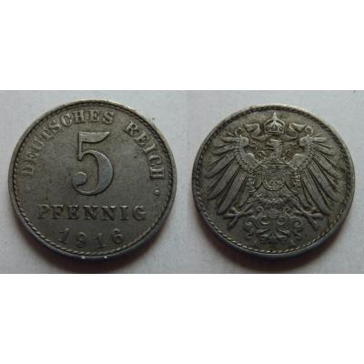 5 pfennig 1916 A