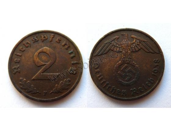 2 Reichspfennig 1938 F
