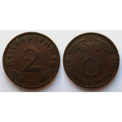 2 Reichspfennig 1937 F