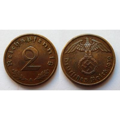 2 Reichspfennig 1939 A