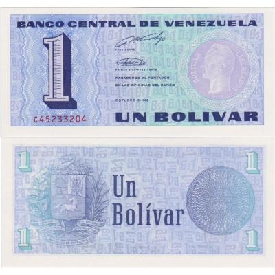 Venzuela - bankovka 1 bolívar 1989 UNC