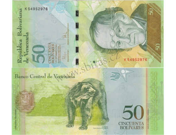Venezuela - bankovka 50 bolivares 2009 UNC