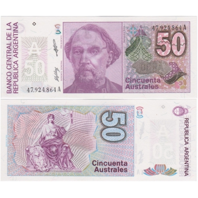 Argentina - bankovka 50 australes 1986-1989 UNC