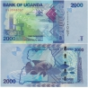 Uganda - bankovka 2000 shillings 2015 UNC