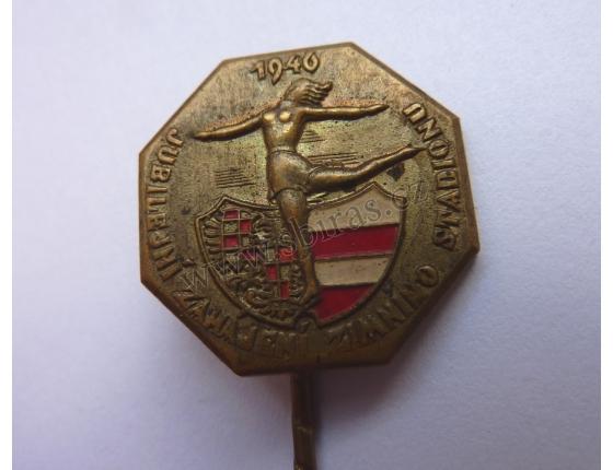 Jubilejní zahájení zimního stadionu BRNO 1940, odznak jehla