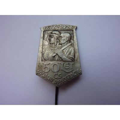 50 let Československé sociální demokracie 1928, odznak jehla