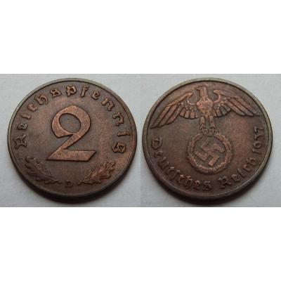 2 Reichspfennig 1937 A