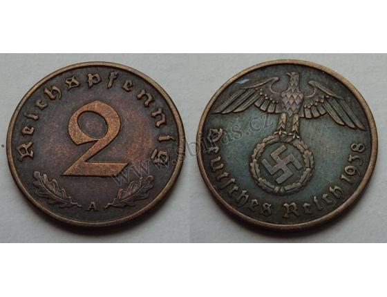 2 Reichspfennig 1938 A