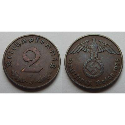 2 Reichspfennig 1938 J
