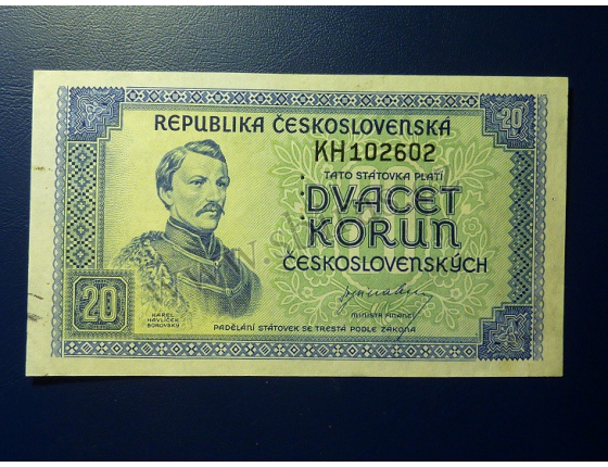 20 korun 1945