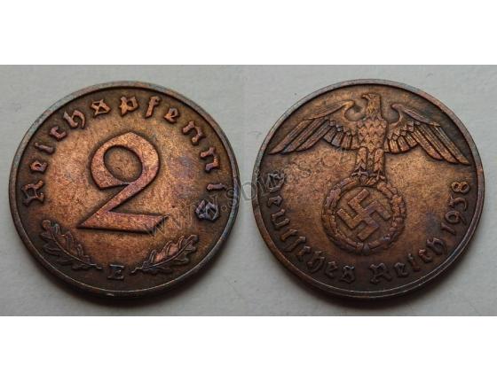 2 Reichspfennig 1938 E