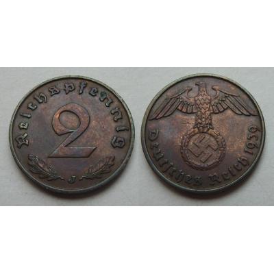 2 Reichspfennig 1939 J