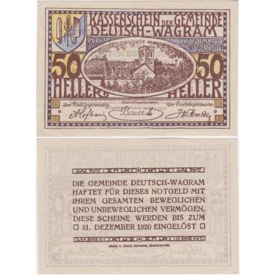 Rakousko - Notgeld 50 Haléřů Deutsch-Wagram 1920 aUNC