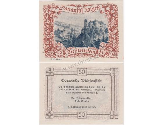 Rakousko - Notgeld 50 Haléřů Vichtenstein UNC
