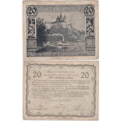 Rakousko - Notgeld 20 Haléřů Niederösterreich 1920