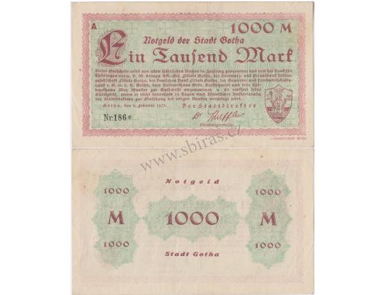 Německo - bankovka 1000 Mark 1923 Gotha