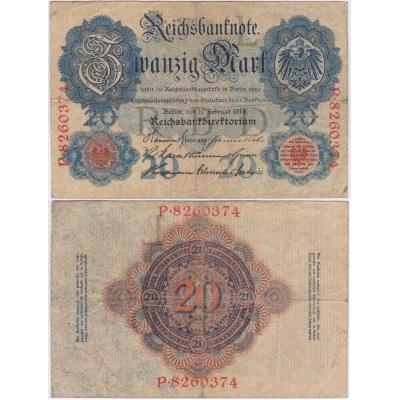 Německé císařství - bankovka Reichsbanknote 1914