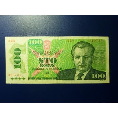 100 korun 1989 série A24