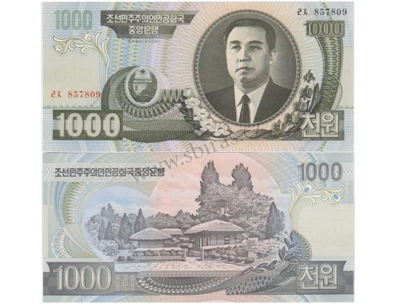 KLDR -bankovka 1000 Won 2006 UNC