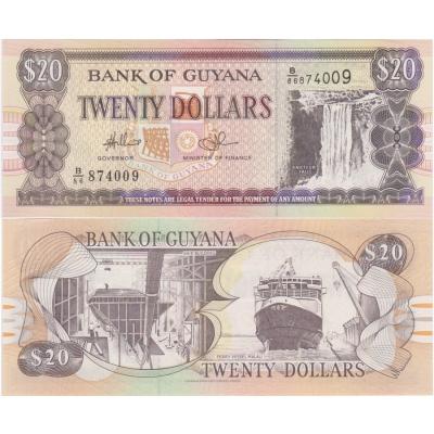 Guyana - bankovka 20 dollars 1996 UNC