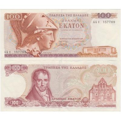 Řecko - bankovka 100 drachma 1978