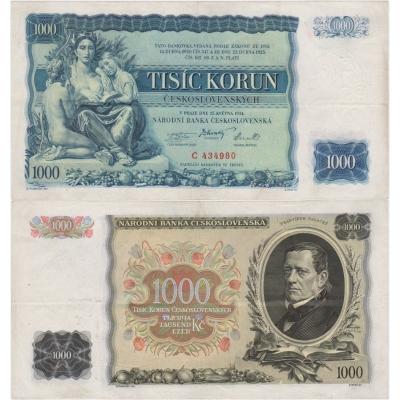 1000 korun 1934, série C, neperforovaná