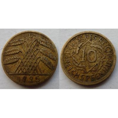 10 Reichspfennig 1925 D