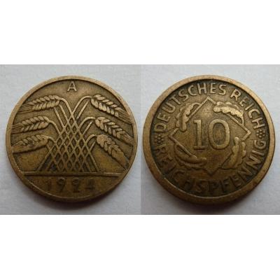 10 reichspfennig 1924 A