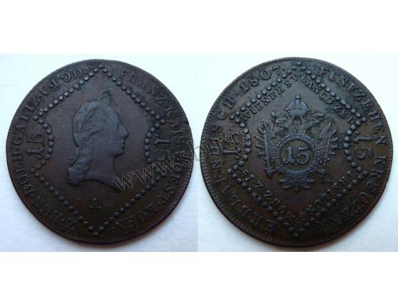 František I. - mince 15 krejcarů 1807