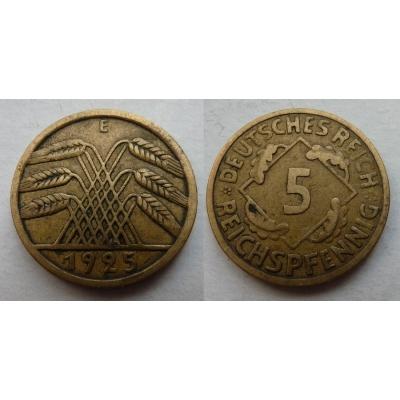 5 Reichspfennig 1925 E