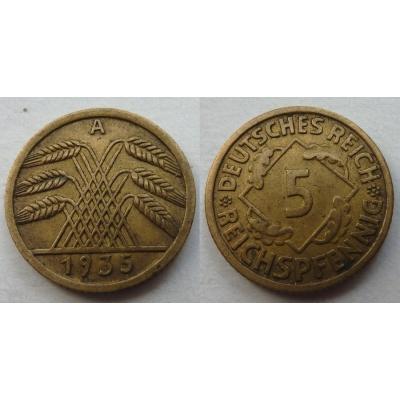 5 Reichspfennig 1935 A
