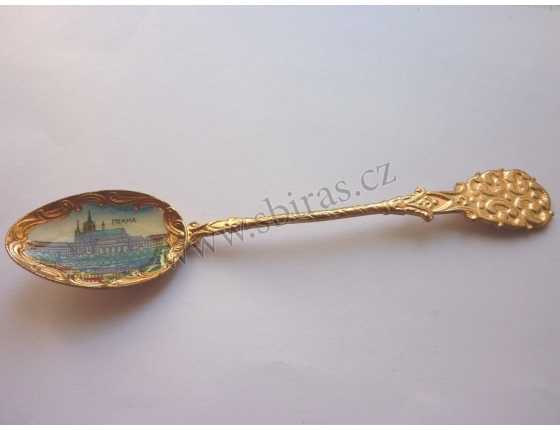 Czechoslovak Vintage enameled spoon