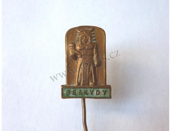 Beskydy - bůh Radegast, odznak jehla
