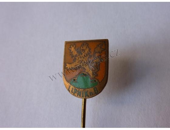 Lipník nad Bečvou - odznak smalt