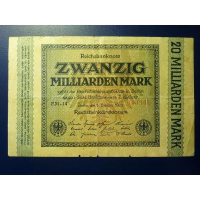 Reichsbanknote 20 miliard marek 1923