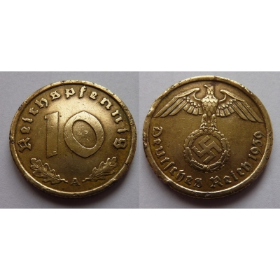 10 Reichspfennig 1939 A