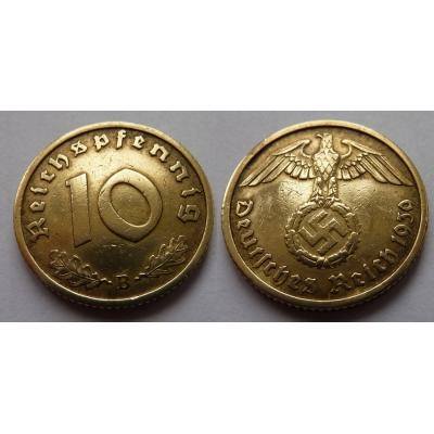 10 Reichspfennig 1939 B