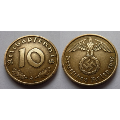 10 Reichspfennig 1938 A