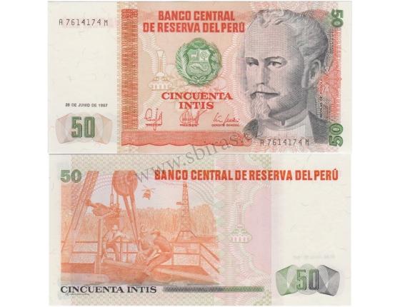 Peru - 50 intis 1987 Banknote UNC