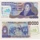 Argentina - bankovka 10000 pesos / 10 australes 1985 aUNC