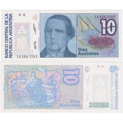 Argentina - bankovka 10 australes 1987 UNC