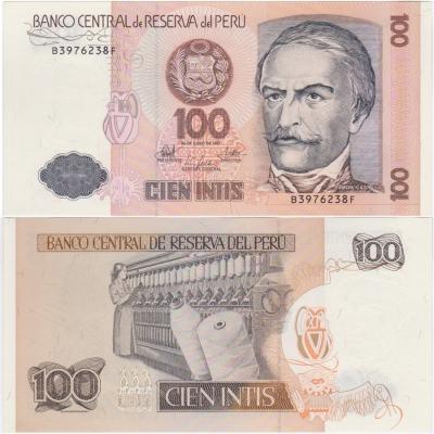 Peru - 100 intis 1987 Banknote UNC