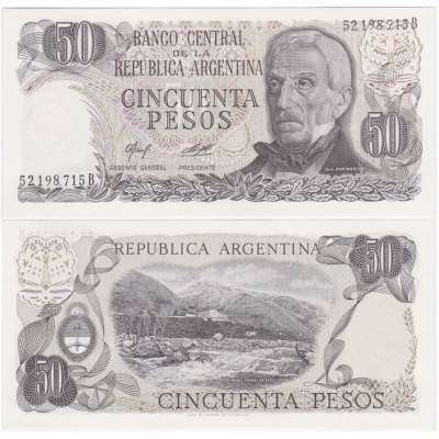 Argentina - bankovka 50 pesos 1976~1978 UNC